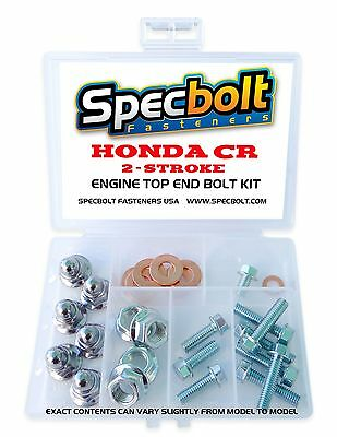 HONDA CR ENGINE BOLT KIT TOP END 60 80 85 125 250 500 Cylinder Head Reed Cage