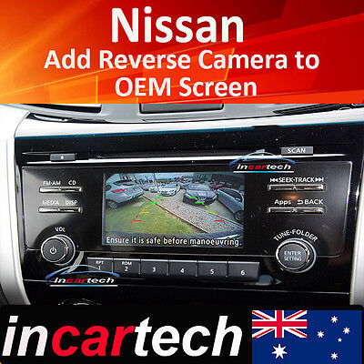 Nissan Navara 14 15 16 17 add Reverse Camera Integration For OEM Factory Screen