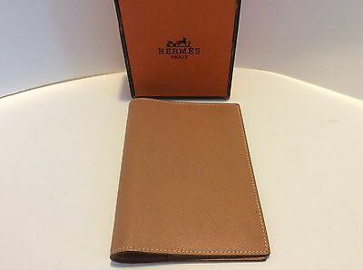 HERMES Agenda/Diary/Day Planner Cover Med Brown Auth made in France