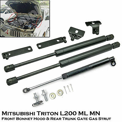 Front Bonnet&Rear Trunk Gas Shock Strut Damper For Mitsubishi Triton L200 05-14