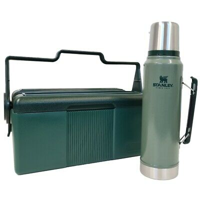 NEW STANLEY CLASSIC LUNCH COOLER & VACUUM FLASK COMBO PACK Bottle Lunchbox