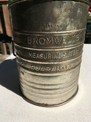 Vintage Bromwell's 5 Cup Flour Sifter