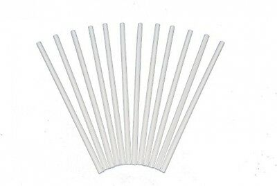 Plastic White Dowel Rods For Tiered Cake Construction, 12 Inch X 1/4, Pack Of 50