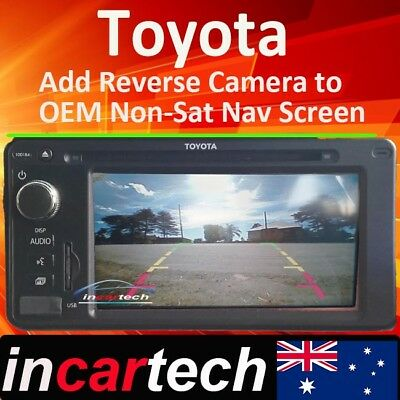 Toyota add Reverse Camera Integration to PZQ60-00535 original OEM Monitor 100184