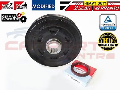 FOR HONDA ACCORD CIVIC CRV FRV 2.2 CDTi DIESEL CRANK SHAFT PULLEY WITH OIL SEAL
