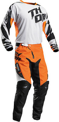 Completo Ragazzo Cross Thor Youth Fuse Air Dazz S7 Flo Orange/white