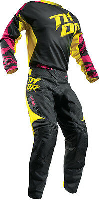 Completo Ragazzo Cross Thor Youth Fuse Air Dazz S7 Magenta/yellow
