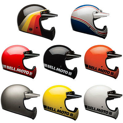 Bell Moto 3 Motorcycle Motorbike Off Road Classic Helmets | All Colours & Sizes