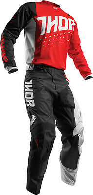 Completo Ragazzo Cross Thor Youth Pulse Aktiv S7 Offroad Red/black