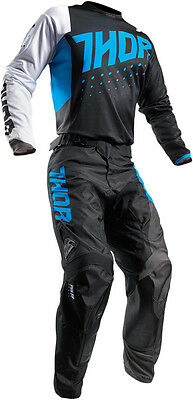 Completo Ragazzo Cross Thor Youth Pulse Aktiv S7 Offroad Blue/black