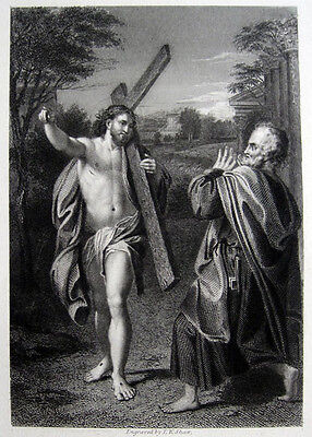 Annibale Carracci Domine quo vadis? Petrus Rom Roma Christ appearing to St.Peter
