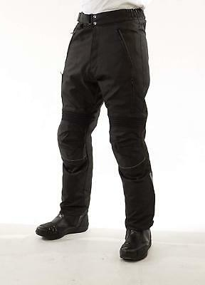 Mens Galaxy Motorcycle Waterproof Thermal Trousers Black Textile With Ce Armour