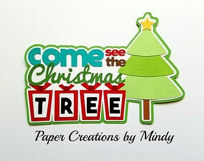 Craftecafe Mindy Christmas Tree holiday  premade paper piece scrapbook Title