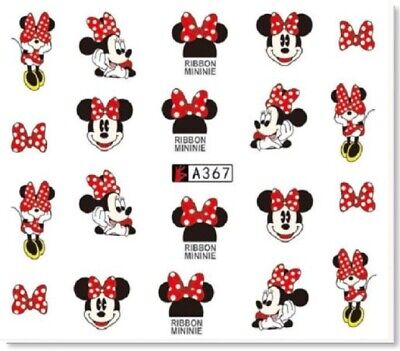 Nail Art Sticker Water Decals Transfer Stickers Minnie Mouse (A-367)