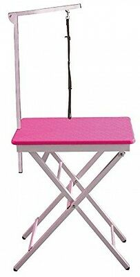 Groom Professional Ring Side Pet Grooming Table Pink 73.5cm - 84cm Height