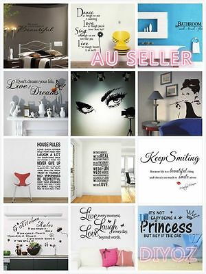 Removable Family DIY Art Vinyl Quote Wall Stickers Words Decal Mural Home