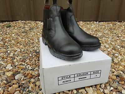New Leather Albata Steel Toe Jodhpur Safety Yard boots Size 5 to 10 Clearance