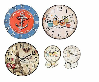 Large Antique Finish Retro Classic Wall Clock Home Kitchen - Gift Idea