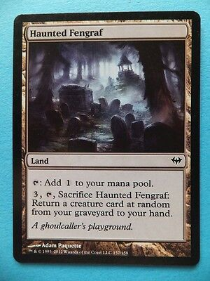 HAUNTED FENGRAF Land P1 Collectable MAGIC THE GATHERING Trading Card MTG