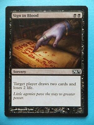 Sign in Blood Sorcery P1 Collectable MAGIC THE GATHERING Trading Card MTG