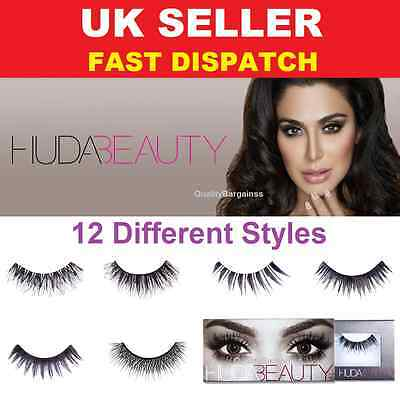 Huda Beauty False eyelashes Natural Fibres Lashes *12 Styles to choose from* UK