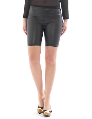 Shorts Mini-Hose Kurz Glanz-Matt in Kunstleder Lack Optik Sport Disco Freizeit