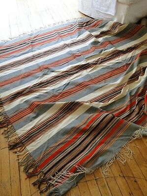 Antique Textiles-Woven Striped Shawl
