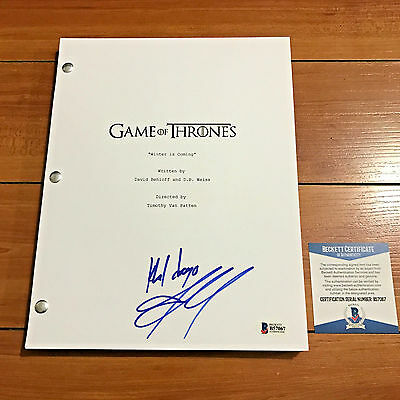 JASON MOMOA SIGNED GAME OF THRONES FULL PILOT SCRIPT w/ CHARACTER NAME