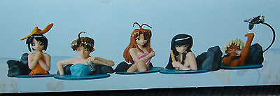 NEW COMPLETE 7 Piece Love Hina Boxed Onsen Hot Springs Set #1 US SELLER FREE S/H