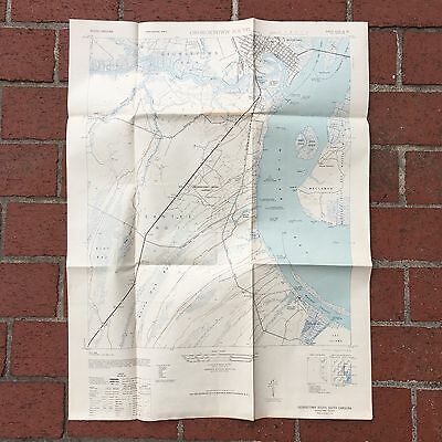 Vintage 1947 Georgetown South, South Carolina US Army Map Service Topo Chart Map