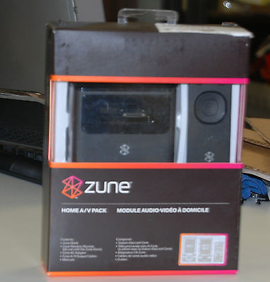 NEW Genuine Microsoft ZUNE Home A/V Pack Dock & remote