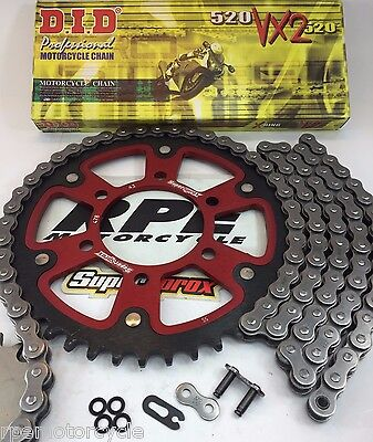ZX6R '05-06 NINJA RED SUPERSPROX DID CHAIN AND SPROCKETS KIT KAWASAKI Quick Accl