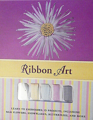Silk Ribbon Embroidery Kit 4 Christmas Snowflakes Instruction Book Ribbons More