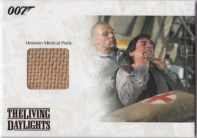 James Bond 2014 Archives Jbr34 Hessian Medial Pack Relic The Living Daylights
