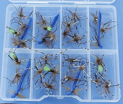 25 DADDY LONG LEGS Trout Fly Fishing Flies  HB 123T Hook SIZE 12 - FREE FLY BOX