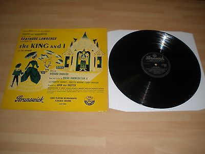"""The King And I 12"""" Vinyl Lp Yul Brynner Gertrude Lawrence Brunswick Lat8026 Ex """""""