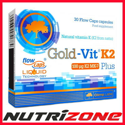 OLIMP GOLD VIT K2 PLUS with Vitamin D3 1000IU Blood Clotting Bones Teeth  Support