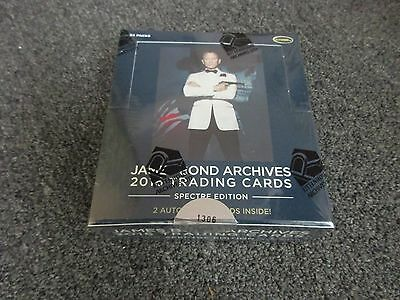 2016 James Bond Archives SPECTRE Edition Factory Sealed Hobby Box with Promo P1