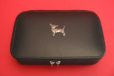 Chihuahua Dog Travel Jewellery Box Buisness Travel Gift Mother Jewelry Box NEW