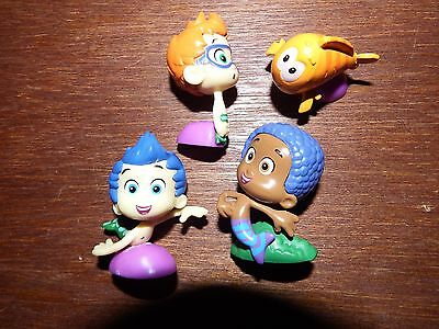 Bundle joblot 4 bubble guppies figure toy playset mermaid Nickelodeon Gil Goby