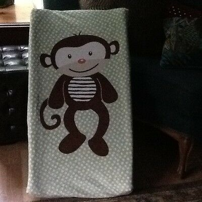 Summer Infant Monkey Green Polka Dot  Baby Changing Pad Cover