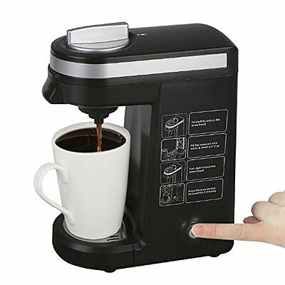 Aicok K-cup Coffeemaker Compact Single Serve Coffee Brewer Black-15 Aicok