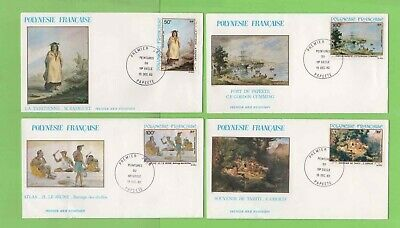 French Polynesia 1982 19th Century Paintings set on 4 First Day Covers