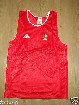 Australia Team Beijing 2008 Olympics Adidas Men's Vest Top Red 42/44  XL New