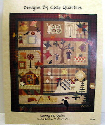 COZY QUARTERS Loving my Quilts WALL HANGING PATTERN applique quilting