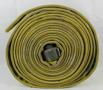 Red Head Nh Aluminum Coupling Industrial Canvas Truck Fire Hose 50' Ft Retired