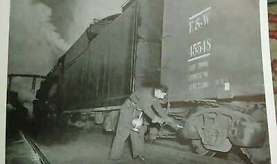 vintage train picture #27 The Car Inspector at Work