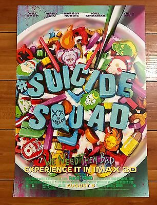 SUICIDE SQUAD CEREAL IMAX 13x19 PROMO MOVIE POSTER - JARED LETO MARGOT ROBBIE