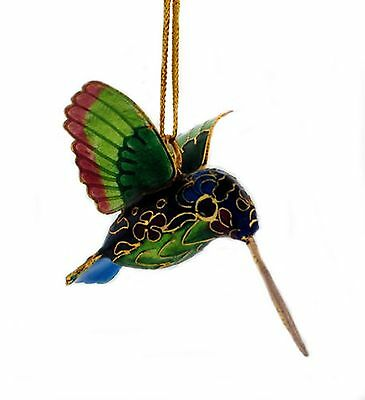 Kubla Cloisonne Hummingbird Ornament. Colorful !