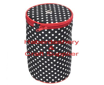 Birch Knitting Yarn Holder Tall Polka Dot